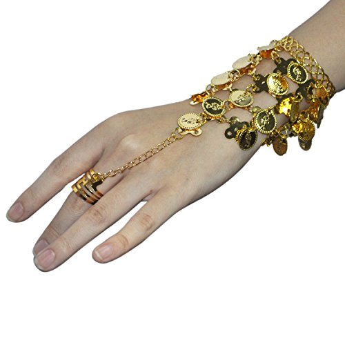 Seawhisper Belly Dance Gold Coins Bracelets Gypsy Jewelry (Hogwarts Costumes For Women)
