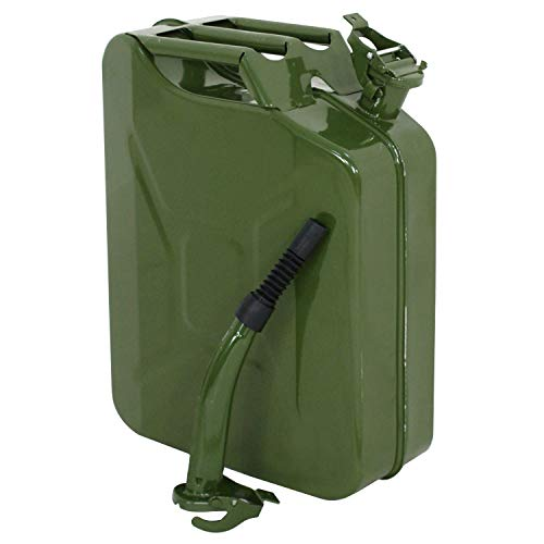 Clever Market Gas Tank Jerry Can Automotive Fuel Steel Tank 20L Emergency Backup Army NATO Style Gasoline Iron Military Green Tank 5 Gal