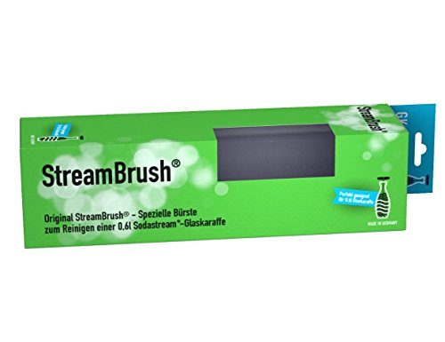 StreamBrush® Flaschenbürste für 0,6 Liter Glas Sodastream Flaschen - Made in Germany