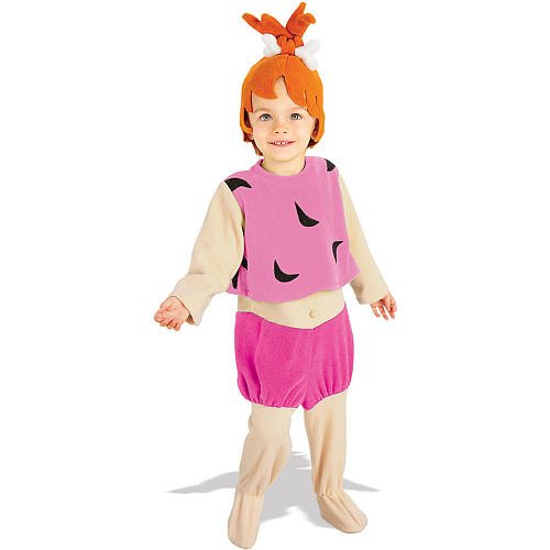 The Flintstones Group Costumes (Pebbles Flintstone Toddler Costume)