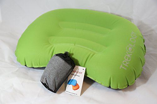 Trekology Compact Inflating Travel / Camping Pillow - Ultralight Backpacking Pillow - Compressible, Inflatable, Comfortable Pillow for Relaxing Outdoor (Green) (Starter Hoodie Men compare prices)