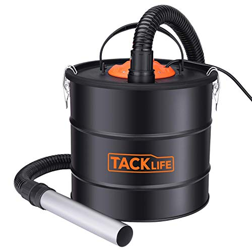TACKLIFE 800W Ash Vacuum, 5-Gallon Ash Vacuum Cleaner, Blower/VAC 2 in 1, Double Filtration System for Pellet Stoves,BBQ Grills and Wood Stoves - PVC03A (Hot Ash Vacuum)