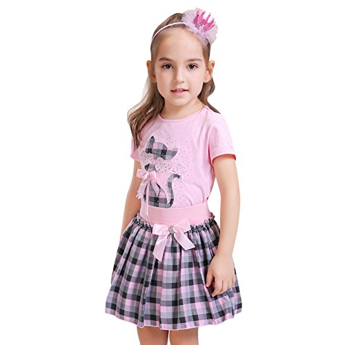 Sweet Style Soft Baby Girl Set Rose Pattern Tops And Shorts - 2
