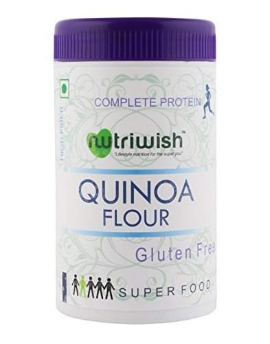 Nutriwish Quinoa Flour 250 gms (Reusable Packaging With Scoop) , Protein Rich Superfood by Nutriwish