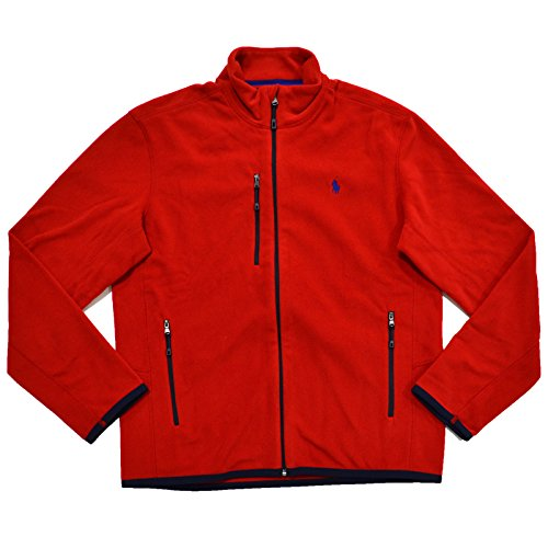 Polo Ralph Lauren Mens Performance Micro Fleece Full Zip Jacket (XS, RL 2000 Red) (Polo Jacket Fleece)