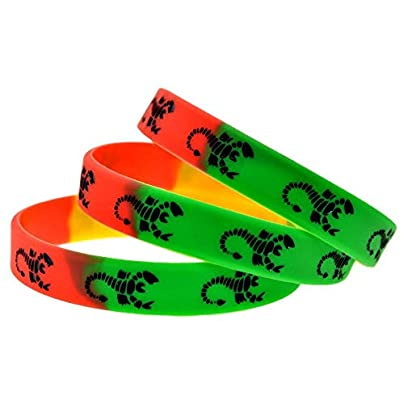 Wristbands Silicone Wristbands with Symbol Scorpion Silicone Bracelets for Kids Motivation Set Pieces Estimated Price £19.13 -