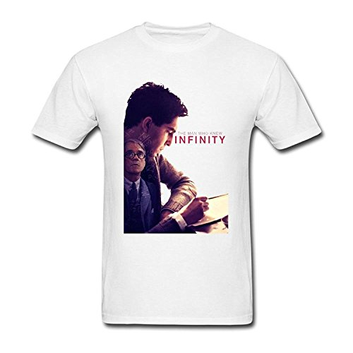 FUSHUO Men's The Man Who Knew Infinity New Movies T-shirt Size XL Black