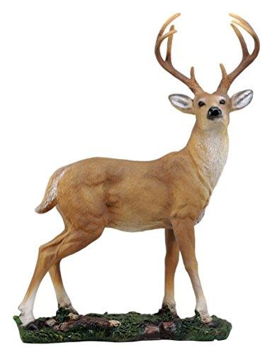 8 Point Trophy Buck Statue 15.25