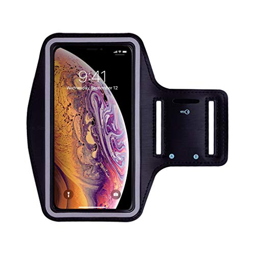 GSusan Sportarmband Handy, Schweißfest Sportarmband, Verlängerungsband, Schlüsselhalter, Kartensteckplatz, Kopfhörloch, für Handy Bis zu 5.8