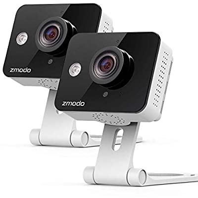 Zmodo Wireless Security Camera System (2 Pack) Smart HD WiFi IP Cameras with Night Vision (Certified Refurbished)