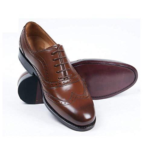 Scarpe Deodorante Uomo Resistente Misura in Fashion su Brown del Business all'Usura Aumento Testa Rotondo Pelle da 7rn7HqS