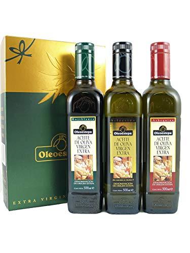 Oleoestepa Golden Sample Box Spanish Extra Virgin Olive Oil |2018 Harvest|  3x 500ml (3x 16 9 oz)