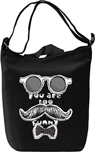 Mustache and Glasses Style Borsa Giornaliera Canvas Canvas Day Bag| 100% Premium Cotton Canvas| DTG Printing|