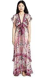 La Belle Tie Front Maxi Dress