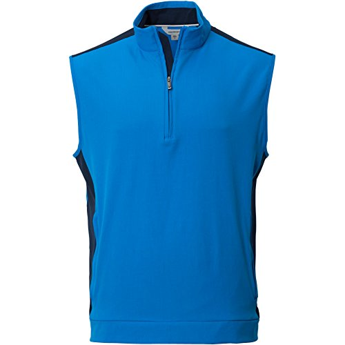 Ashworth Mens Stretch Wind 1/2 Zip Vest Blue M