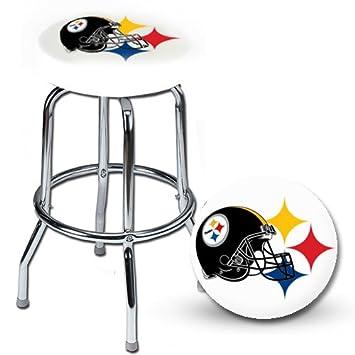 Astonishing Amazon Com Nfl Pittsburgh Steelers White Bar Stool Kitchen Uwap Interior Chair Design Uwaporg