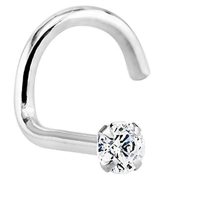 Amazon FreshTrends 1 5mm 0 015 ct tw Diamond 14K White Gold