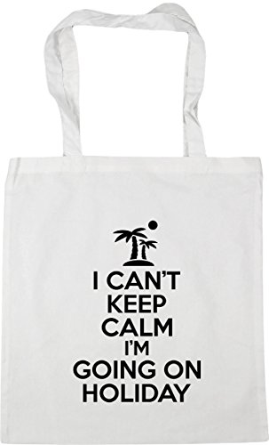 keep i'm 10 holiday Bag on x38cm can't 42cm Beach litres going Gym I Tote calm HippoWarehouse Shopping White nEBIqB
