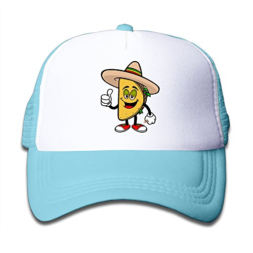 Toddlers Cartoon Taco Clipart Adjustable Snapback Trucker Hats SkyBlue One Size (Chris Chrisley Knows Best)