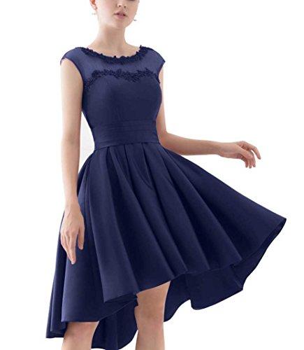 ad Vestito navy Donna linea Beyonddress blu maniche a 52 Senza wSACqU