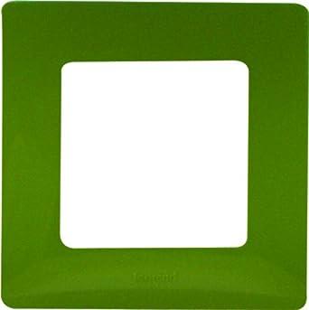 Legrand LEG96703 Niloé - Marco embellecedor para enchufes (1 orificio), color verde: Amazon.es: Bricolaje y herramientas