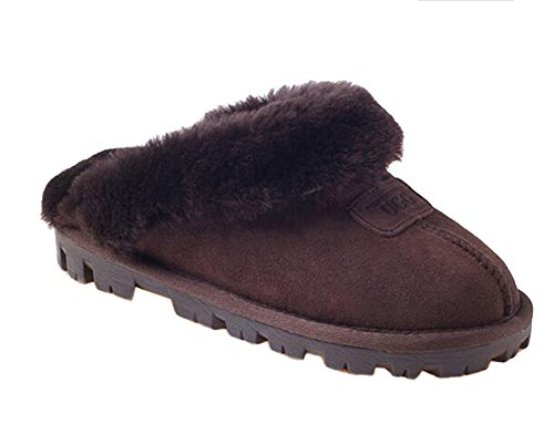 Ozwear UGG Home Unisex Casual Cotton Slippers Chocalate AU 9L/EU 40/ US8.5/ UK6.5 (Womans Ugg Slippers Size 9)