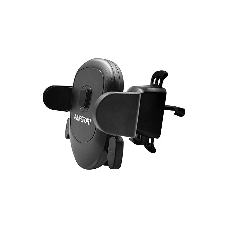 New design- Ailifefort air vent cell phone car mount holder for iPhone Xs Max XR X 8 & Other Smartphone with the most stable clip (hook vent vanes), Single-handed Operation and 360 Degree Rotation