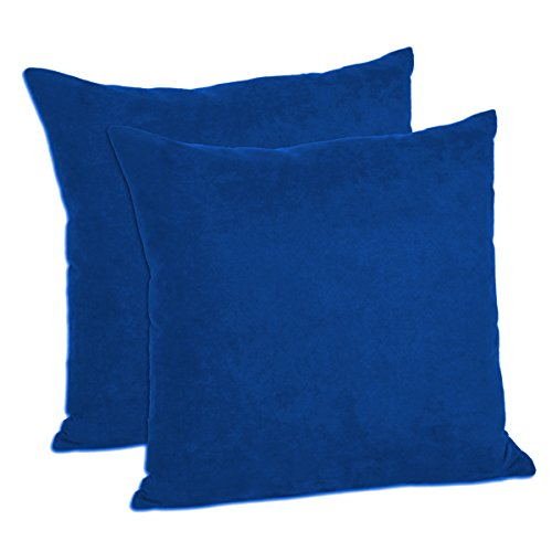 MoonRest - Pack of 2- Micro-Suede Decorative Throw Pillow Case - Faux Suede Cushion Cover (18
