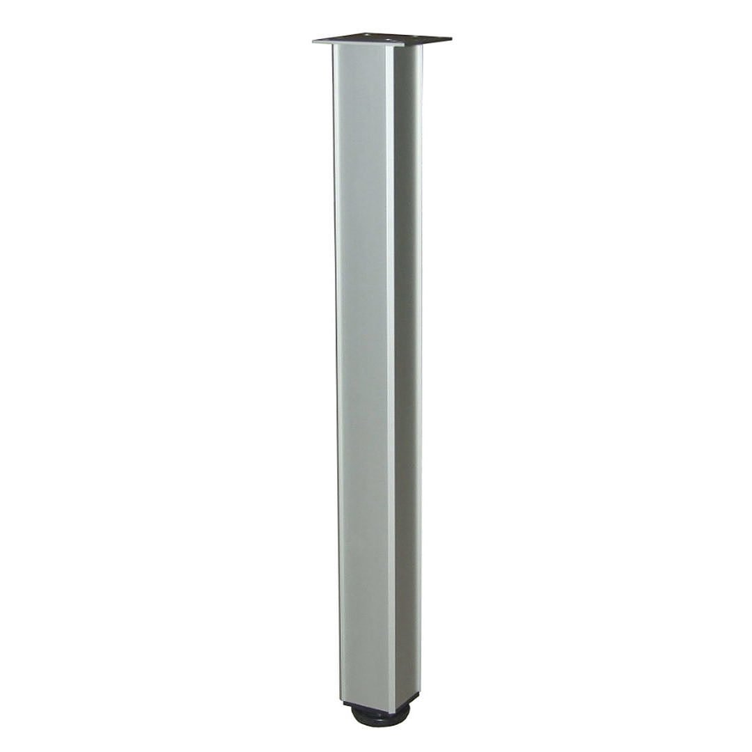 Richelieu Hardware - 494471010 - Box of 4 - Height: 710mm (28'') - KUBINO Adjustable Square Table Leg - 4944 - Aluminum  Finish