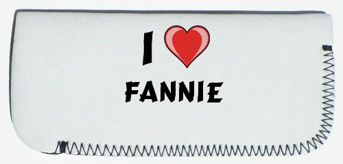 Glasses Case with I Love Fannie (first name/surname/nickname) SHOPZEUS