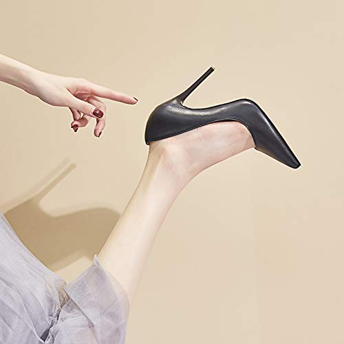 Blue Shoes Work Single Heel Professional White High Shoes Female Black heels Stiletto Pointed 35 Female Yukun High Female 7aqxvzwF7