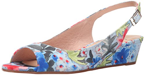 French Sole Fs / Ny Womens Renew Wedge Pump Blue Flower