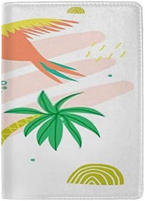 パスポートカバー ホルダー スキミング防止 多機能収納ポケット パスポートケース トラベルウォレット PUレザー エアチケット カードケース 収納ポーチ おしゃれ 綺麗な葉 リーフ柄 高級レザー 出張 便利グッズ 安全な海外旅行用