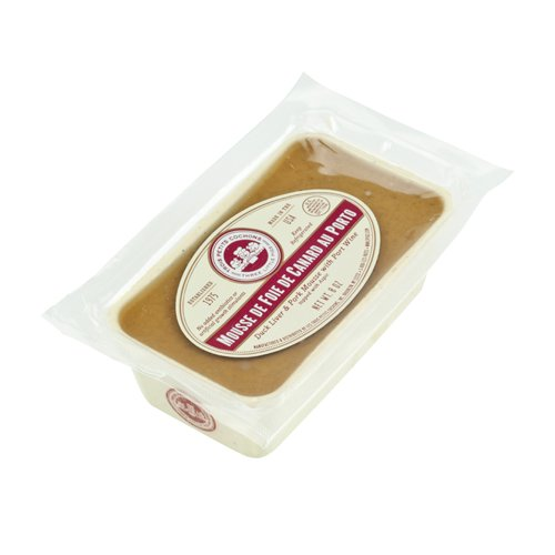 (Duck Liver Mousse with Port | Mousse de Foie de Canard au Porto by Les Trois Petits Cochons - 8 oz (Pack of 6))