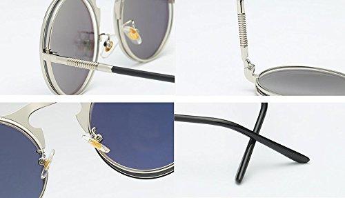 gothique lunettes femmes et hommes Or de de Or vintage soleil rétro Huateng style pour Lunettes soleil de OqwO6f8X