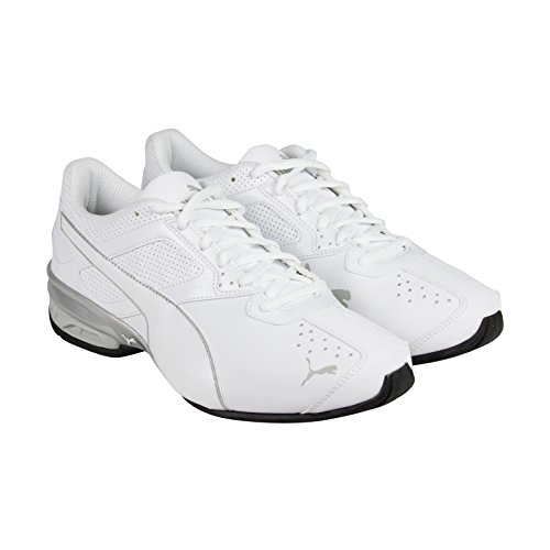 Puma+Mens+Tazon+6+Running+Shoes+White-Gray+Violet-Puma+Silver+Size+8
