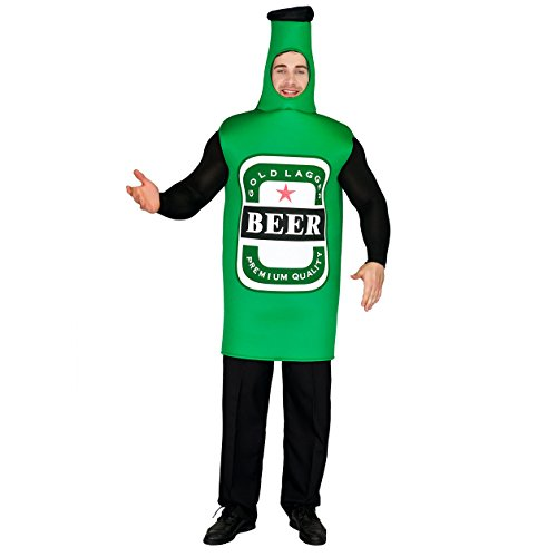 flatwhite Adult Men's Lightweight Beer Bottle Costume One Size