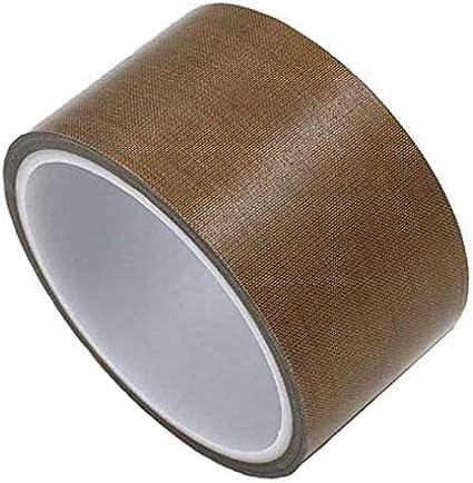 Cinta adhesiva de teflón para máquina de envasado al vacío, FORTSPANG, cinta adhesiva de alta temperatura, PTFE, apta para FoodSaver, Seal A Meal, Weston, autoadhesiva, 50 mm x 10 m