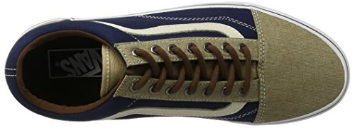 Vans Sneakers Khaki Skool Old Sidewall White Blues Dress Embossed r8qXf7rnxT