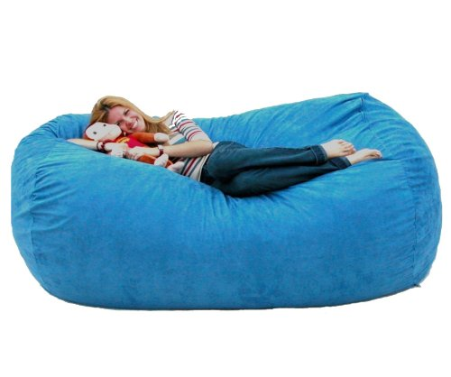 Cozy Sack 7-Feet Bean Bag Chair, X-Large, Sky Blue