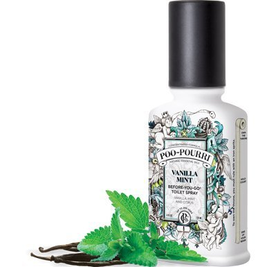 Poo-pourri 2-piece Before-you-go Toilet Spray Bottle Set, 2 and 4-ounce, Vanilla Mint with a Free 4ml Pocket Size Bottle
