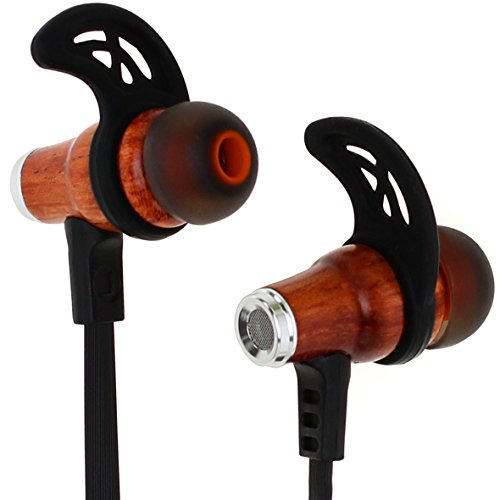 Symphonized NRG Bluetooth Wireless Wood In-ear Noise-isolating Headphones | Earbuds | Earphones with Mic & Volume Control (Second Skin Wood)