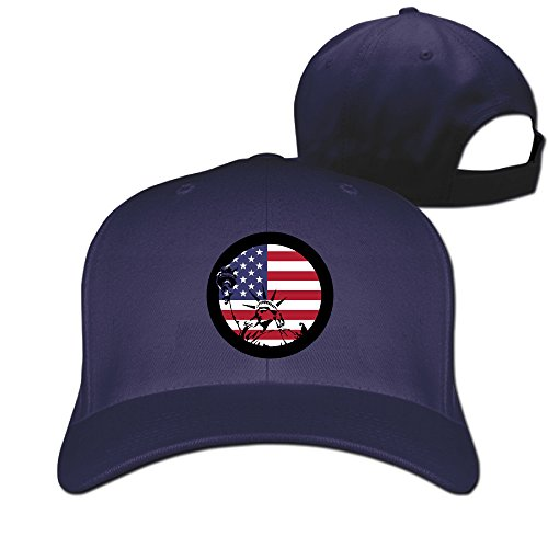 Unisex Americana Collection Statue Of Liberty Popular 100% Cotton Adjustable Baseball Hat Navy