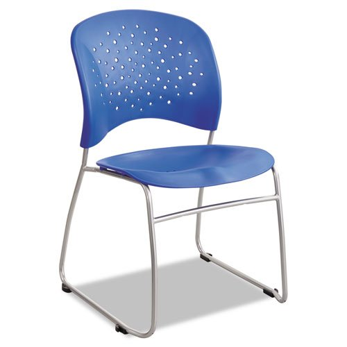 (Safco Products 6804LA Reve Guest Chair Sled Base with Round Back, (Qty. 2),)