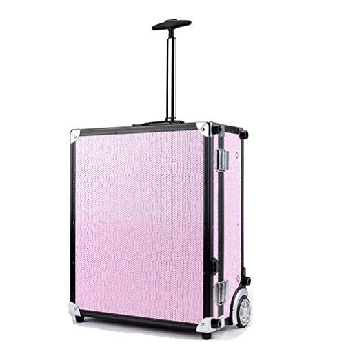 寮明らか会員BUMC 化粧トロリーケース、大きい化粧化粧列車、LEDライト付き、ダイヤモンドオーガナイザーボックス収納付きプロフェッショナル多層化粧品ケース