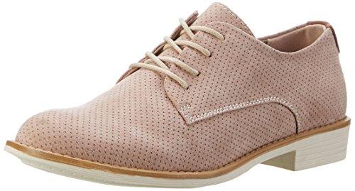 beberlis Blucher 19289 - Zapato Unisex EN Charol y Ante con Flecos, Color Azul Celeste.