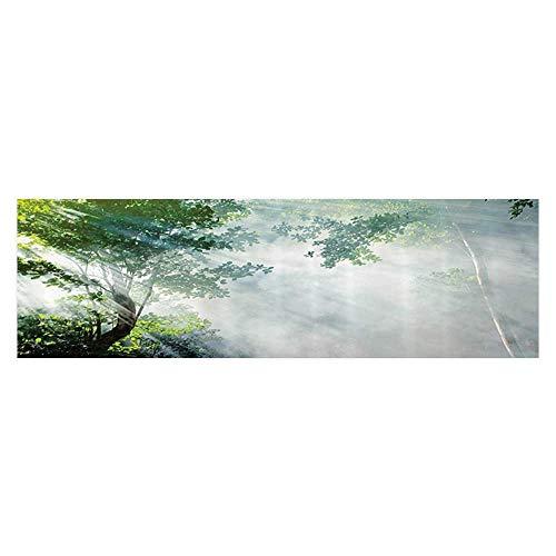 UHOO2018 Aquarium Sticker Sunam Tween Shadows of Trees Idyllic ery of Solitude in Jungle Wallpaper Sticker Background Decoration 23.6