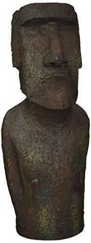 Design Toscano Easter Island Ahu Akivi Moai Monolith Statue, Medium, Gray Stone