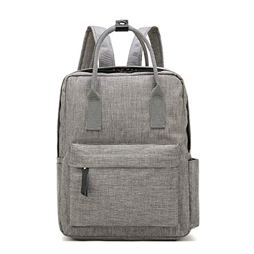 Galaxy Wolf Trendy Laptop Backpack Cute Travel Bag and Slim Carryall for Men, Women, Students | Lightweight, Durable Polyester Nylon | Adjustable Shoulder Straps (Gray)