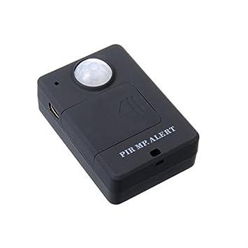 Sistema de alarma Sensor de PIR detector de movimiento GSM Alerta A9